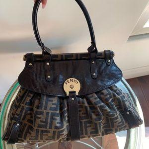 Fendi Zucca canvas/leather magic bag